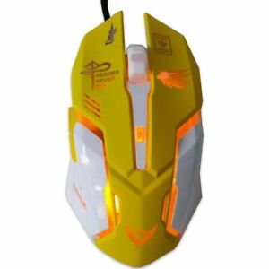 Wired Gaming Mouse USB LED Stylish Backlit Colorful 2400DPI Computer PC Laptop