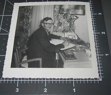 1950's Mid Century Modern Dancer Lamp Man Pocket Watch on Desk Vintage PHOTO