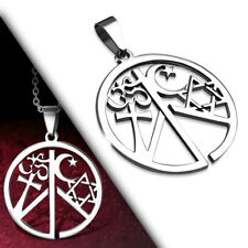 Coexist pendant ebay coexist religious peace love silver stainless steel fashion pendant necklace aloadofball Gallery