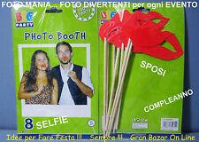 FOTO MANIA ACCESSORI DIVERTENTI PER COMPLEANNO SPOSI LAUREA FESTA PARTY  FB-0104