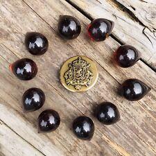 Vintage Lot Of 10 Teardrop Pear Pen Pearl Shaped Apple Juice Bakelite Buttons