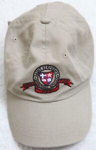 Baseball Hat OC Volunteer Beige One Size Fits All Cotton Adult Strap Back H10