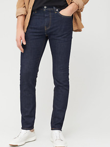 Genuine Levis 512 Slim Taper Fit Stretch Mens Denim Dark Blue Indigo Jeans