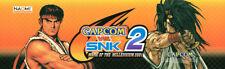 "Capcom vs SNK 2 Arcade Marquee 26"" x 8"""