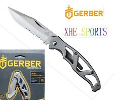 Authorized Gerber Paraframe Mini Stainless serrated Pocket Folding Knife 48484