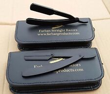 BARBER SALON STRAIGHT CUT THROAT SHAVING RAZOR SHAVETTE RASOIRS RASOI BLACK