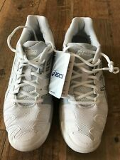 Asics Gel Resolution 5 Tennis Court Shoes E350Y White/Silver Women's Size 10 NWT