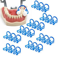 10pcs Dental Disposable Cotton Rolls Holders Clip Isolate Teeth Clamp Plastic