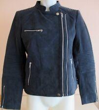 Blouson en cuir bleu Caroll, taille 40