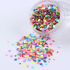 3g/Box Candy Color Round Nail Art Sequins Mixed Glitter Manicure Decoration
