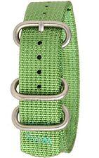 New Bertucci Men's Heavy Duty Two-Ply19 mm Jungle Green Nylon Watch Band B-194