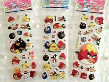 ANGRY BIRDS STICKERS SHEET BIRTHDAY PARTY ONE SHEET LOLLY BAG/ TREAT BOX FILLER