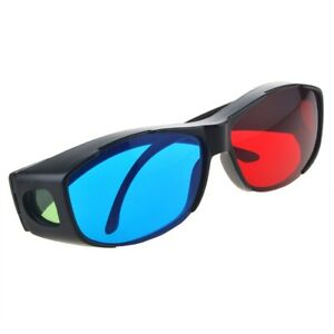 Red Blue 3D Glasses Frame For Dimensional Anaglyph Movie DVD Game
