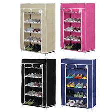 15 Pair Shoe Rack Storage Unit Trainers Canvas 5 Fabric Shelf Home Porch Hallway
