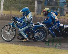 BYRON Bekker mano firmato Scunthorpe SCORPIONI foto 10 x 8 Speedway gioco.