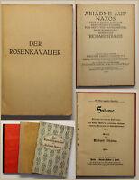 Konvolut Richard Strauss 3 Bde um 1910 ua Der Rosenkavalier Salome Musik sf