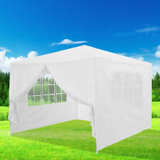 Waterproof Outdoor PE Garden Gazebo Marquee Canopy Awning Party Wedding Tent UK 3m x 3m White