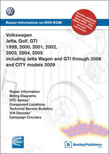 VOLKSWAGEN GOLF JETTA GTI SHOP MANUAL VW SERVICE REPAIR CD DVD CITY 1999 2005 VW