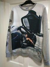 Men's DIVINE of London XL Graphic Grey Sweatshirt VINTAGE EXCELLENT