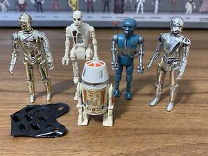 Vintage Star Wars Action Figures Job Lot Original Droids Bundle R5D4 C3PO 8D8