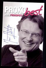 Joesi Prokopetz Autogrammkarte Original Signiert ## BC G 10773