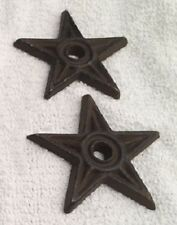 "Center Hole Texas Stars Small 2 3/4"" Cast Iron (Set of Two) Crafts 0170J-02108"