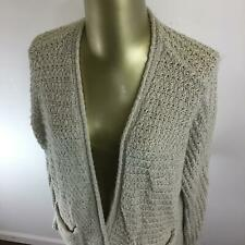 HOLLISTER Open Style Ivory White Chunky Knit Cardigan Sweater Wrap Womens Size M