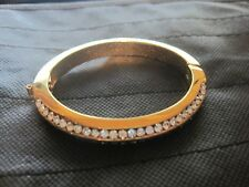 Gold tone and Rhinestone Bangle Bracelet