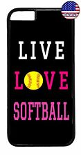 Softball Quote Cute Pink Design Sport Case Cover For Apple iPhone 7 / 7 plus