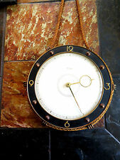 9 inch vintage Kienzle Art Deco style nautical hanging wall clock Kitsch Germany