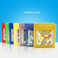 Pokemon Game Card GBC Classic Game Cards Carts Color Version For Pokemon 16Bit