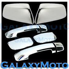 07-15 TOYOTA TUNDRA DOUBLE CAB Top Half Mirror+Chrome 4 Door Handle Cover 2014