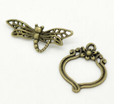 4 sets-toggle fermoir dragonfly