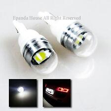 2X USA WHITE LED 5050 SMD BRIGHT T10 194 168 912 921 W5W GLASS LENS BULBS DIY