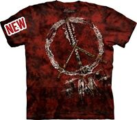 Red Pipes T-Shirt by The Mountain. Native American Peace Indian Sizes S-5XL NEW