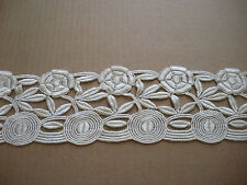 """DESIGNER EXQUISITE FANCY IVORY LACE EMBROIDERED SCALLOP BRIDAL WEDDING 8 YDS 6"""""""