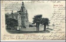Monte Carlo Monaco CPA 1901 Theatre et Terrasses Partie am Theater Palmen