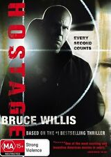 HOSTAGE DVD=BRUCE WILLIS=REGION 4 AUSTRALIAN RELEASE=BRAND NEW AND SEALED