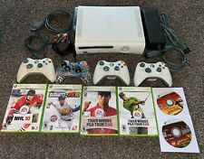 Xbox 360 White 120GB Console w/ 4 Controllers & 6 Games - Everything TESTED!