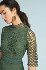 ANTHROPOLOGIE NWT SHOSHANNA Laila Green LACE Dress Sz. 4, $418