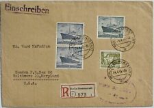 GERMANY - Occupation Stamps #9N110, #9N113-14 on registered cover