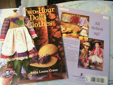 "2-HOUR DOLLS' CLOTHES~Anita Crane~1999 RARE OOP 12-18"" dolls~clothing patterns"