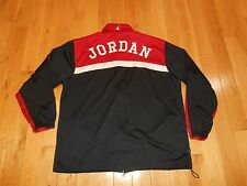 JORDAN Jumpman Zip Up Red Black Warm Up Basketball Track Jacket Stitched Mens XL