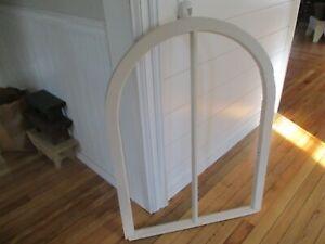 Antique arched window sash/nice one/creamy white/beige. Architectural design