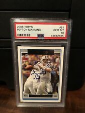 2006 Topps Peyton Manning Football Card #51 PSA 10 Gem Mint