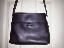 LIZ CLAIBORNE Dark Brown Faux Leather Crossbody Bag Top Magnetic Snap Closer
