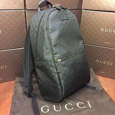 NEW Gucci Backpack Black GG Supreme Monogram Nylon Canvas
