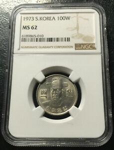 South Korea 100 Won 1973 Copper-Nickel NGC MS62 No Reserve