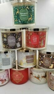Bath & Body Works 3 Wick 2021 Christmas  Candles