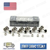 Vintage Style Guitar Locking Tuners Tuning Pegs Machine Heads Nickel R6 for TL